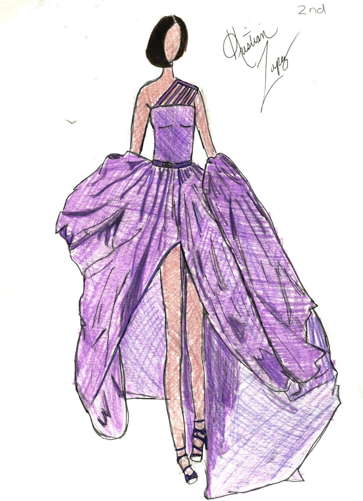 Displaying 20> Images For - Fashion Designing Dresses Sketches...
