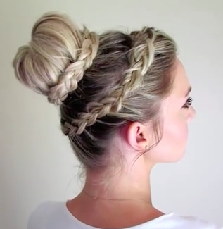 Lace Braid Updo for long hair!