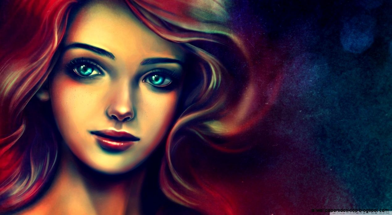 Portrait Of A Beautiful Woman Painting HD desktop wallpaper  High