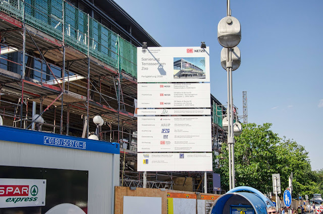 Baustelle Sanierung, Terrassen am Zoo, Bahnhof Berlin Zoologischer Garten, Hardenbergplatz 11, 10623 Berlin, 03.08.2015