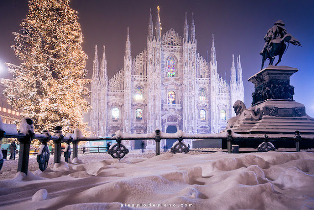 Christmas in Milan, Italy. Photo: Alessio Mesiano. Unauthorized use is prohibited.
