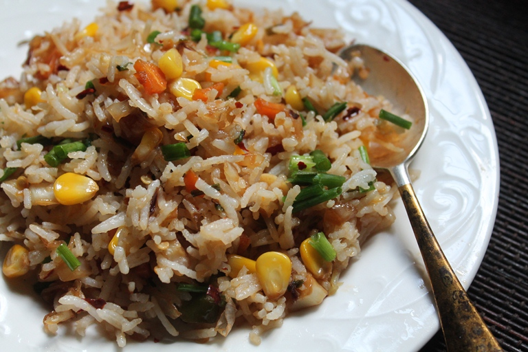 Sweet corn fried rice recipe recipe corn fried rice recipe preparation time 10 mins cooking time 25 to 30 mins ccuart Choice Image
