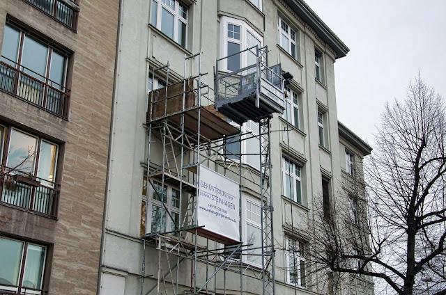 Baustelle Heerstraße, Nähe Theodor-Heuss-Platz, Heerstraße, 14052 Berlin, 02.01.2014