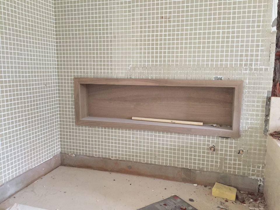 Construindo nossa casinha!!! Andamento da obra!!! -> Nicho Banheiro Portobello