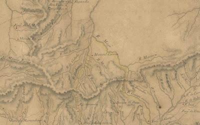 Planta da área da atual Petrópolis em levantamento de 1830