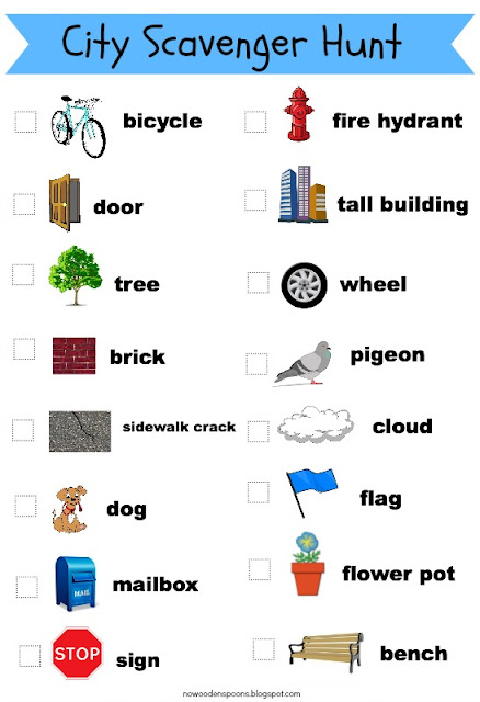 Unusual image regarding printable scavenger hunt for kids