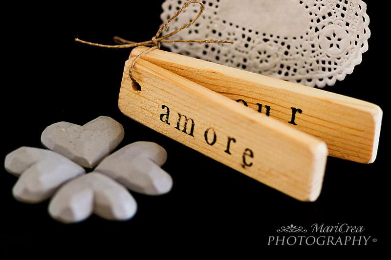 tags di legno per San Valentino