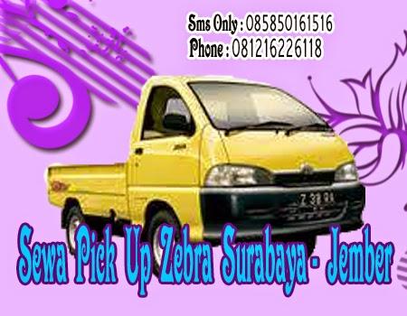 Sewa Pick Up Zebra Surabaya - Jember
