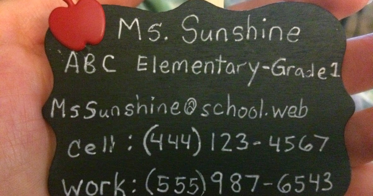 Teaching with sunshine teacher info magnet ready for for Michael craft store phone number