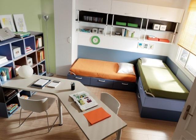 Dormitorio juveniles jjp for Habitaciones con dos camas