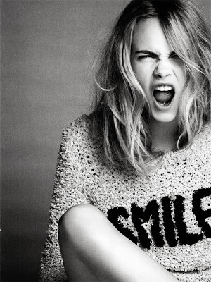 Cara Delevingne Style Fashion Model Runway Model Street Style Smile