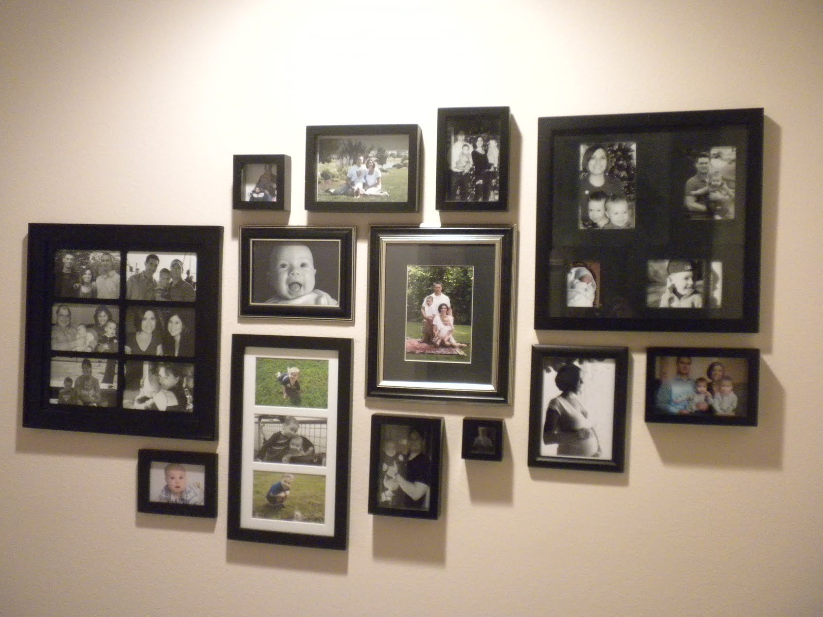 Art picture wall arrangements on pinterest photo walls Painting arrangements on wall