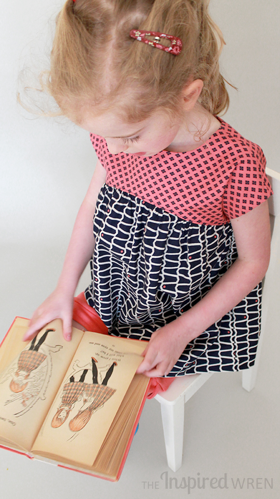 Love the classic bell-shaped silhouette out of a vintage sotrybook on the Izzy Top from Climbing the Willow for Free Pattern Summer | The Inspired Wren