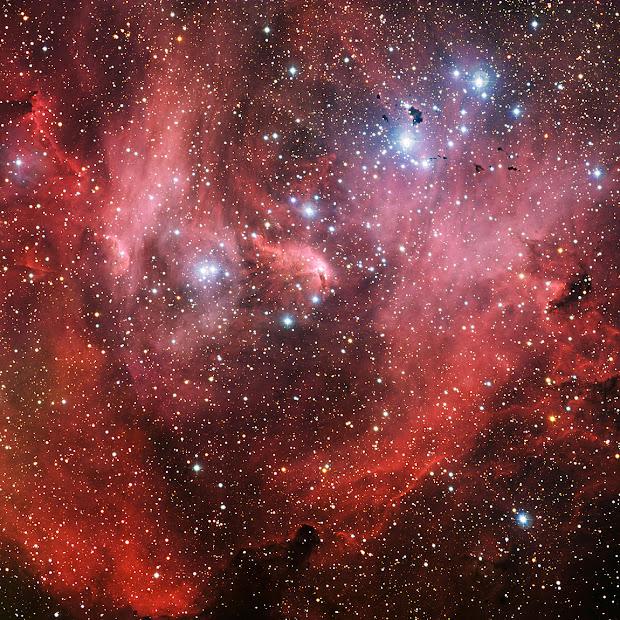 New ESO image of IC 2944, the Lambda Centauri Nebula