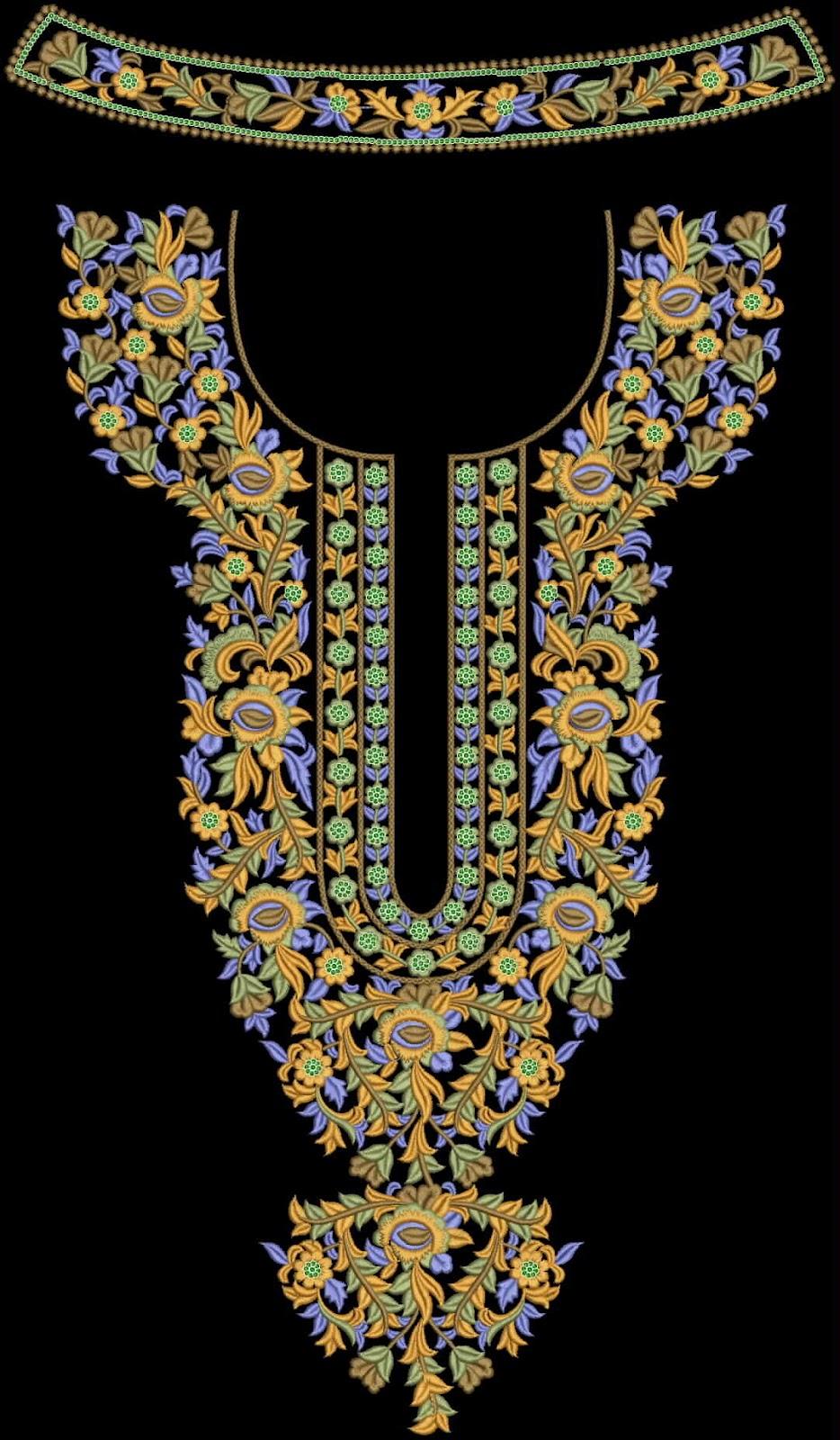 Free Emb Embroidery Designs Neck Design