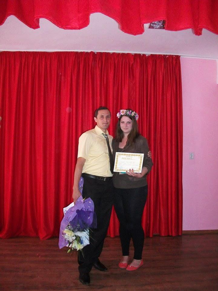 Cu eleva Isabela Asavei (XI C), Premiul I (20.06.2014)...