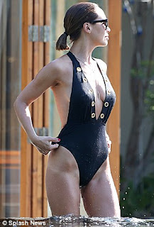 Myleene Klass Seriously Sexy wet derriere plunging swimsuit.jpg