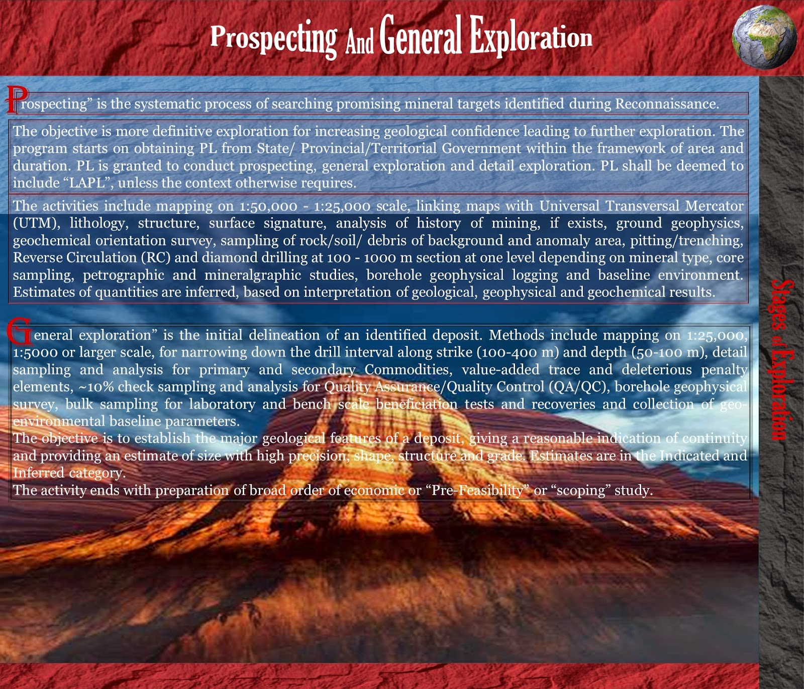 Prospecting And General Exploration