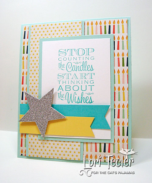 Stop Counting the Candles card-designed by Lori Tecler/Inking Aloud-stamps and dies from The Cat's Pajamas