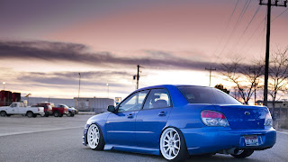 Blue Subaru HD Wallpaper