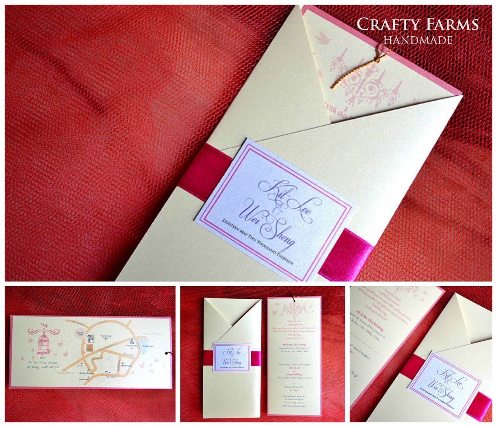 Wedding Card Malaysia | Crafty Farms Handmade : Pink Vintage ...