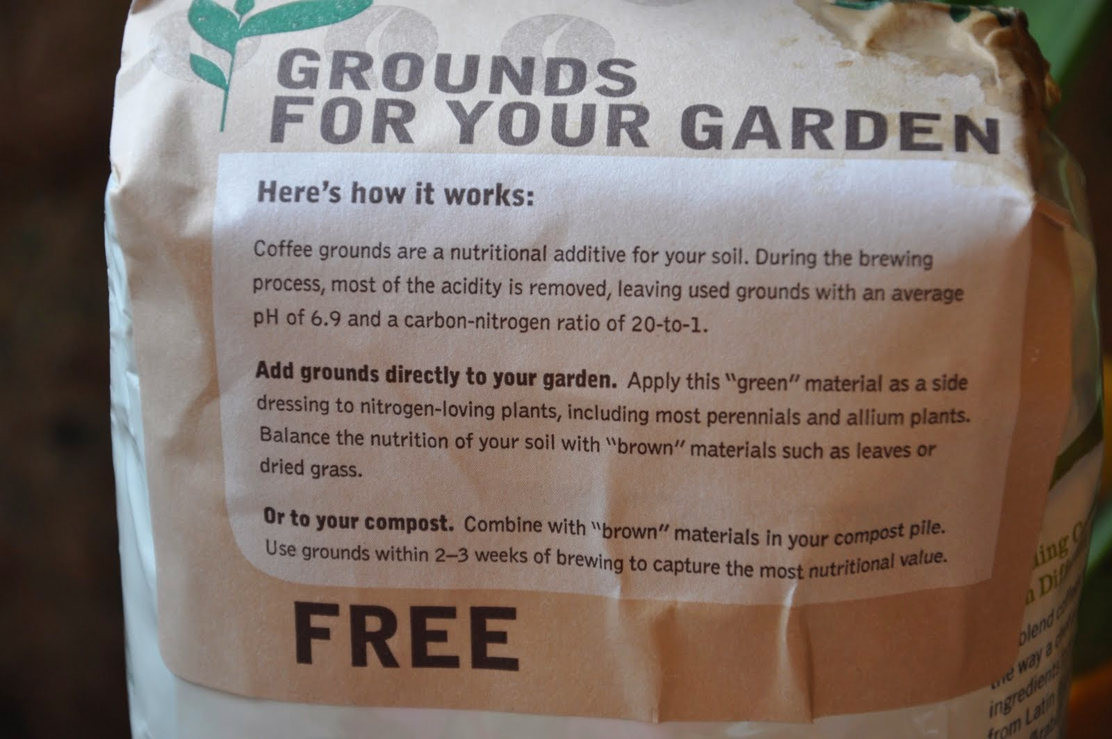 the bumbling gardenista coffee ground rules for gardening. Black Bedroom Furniture Sets. Home Design Ideas