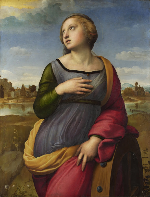 Raphael - Saint Catherine of Alexandria. about 1507