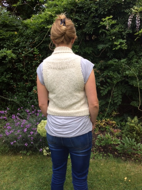 Iago Waistcoat by Purl Alpaca Designs - knitted by Caroline Saunders