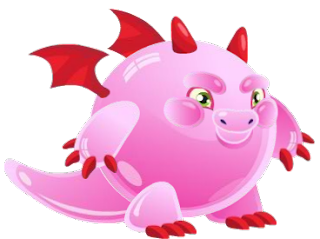 Nome:Dragão Chiclete conhecido como Gomoso