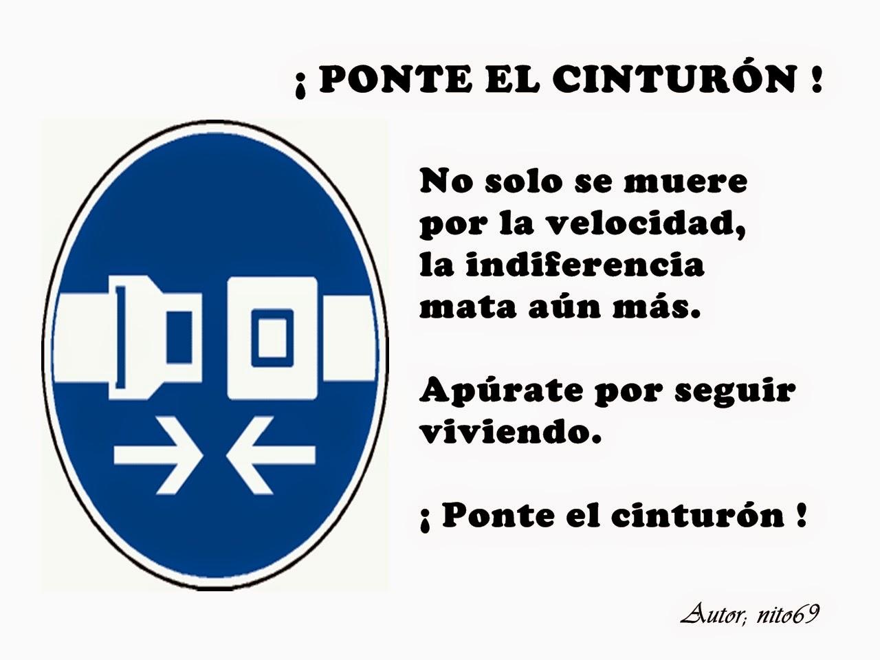¡ PONTE EL CINTURÓN !