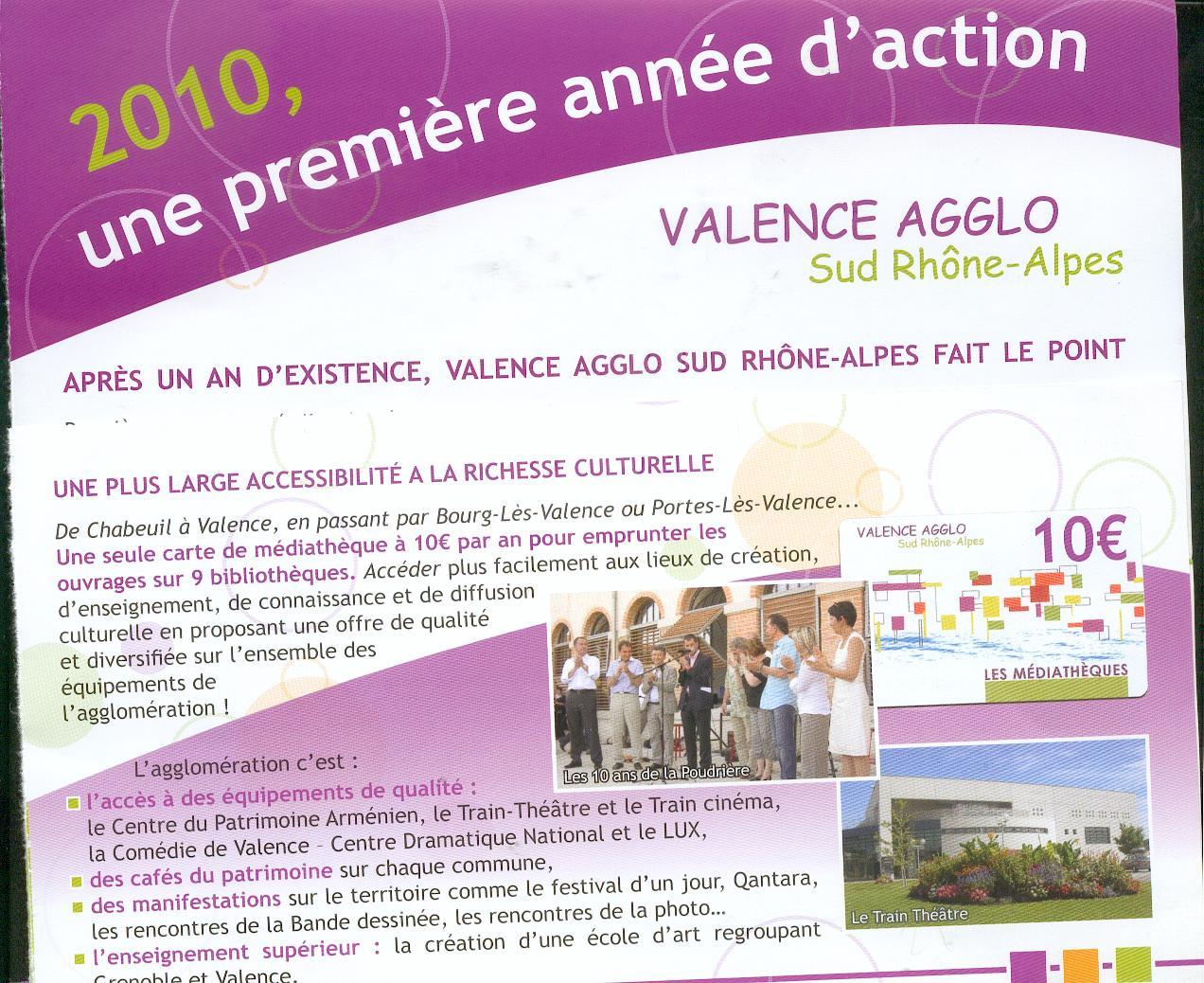 Valence agglo un an apres 2 regards cot culture le blog de st marcel l s valence saint - Mediatheque portes les valence ...