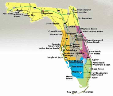 Life In Florida September - Map of northern florida
