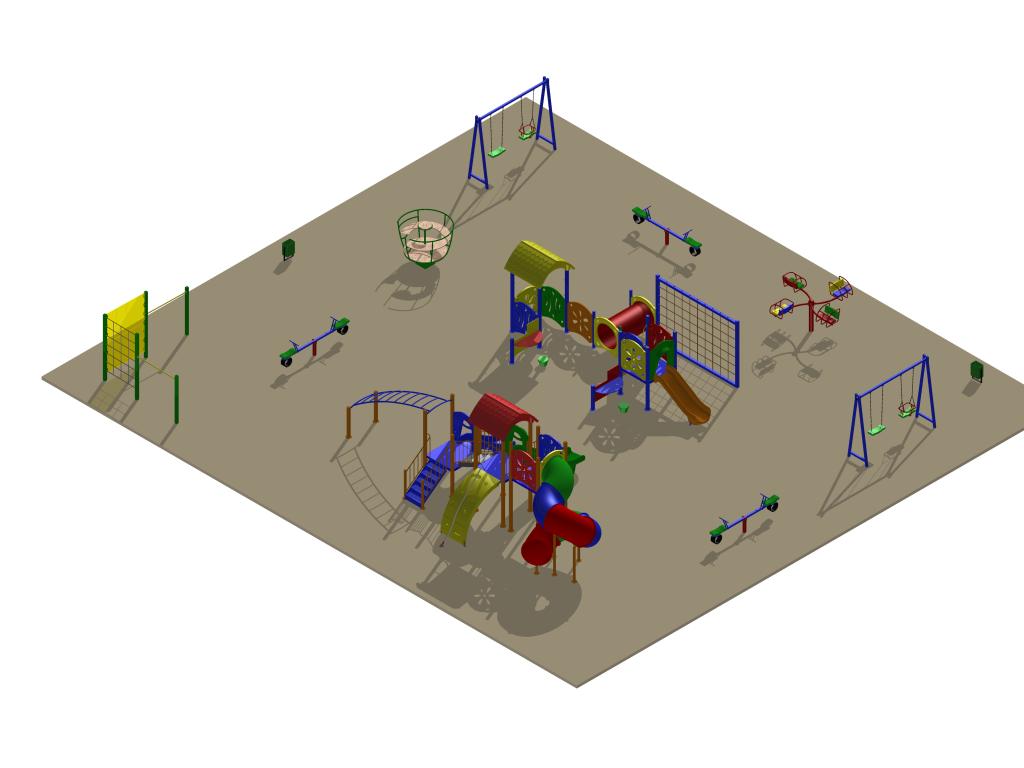 Детская площадка на Лорха, 7, вариант 2 (проект)