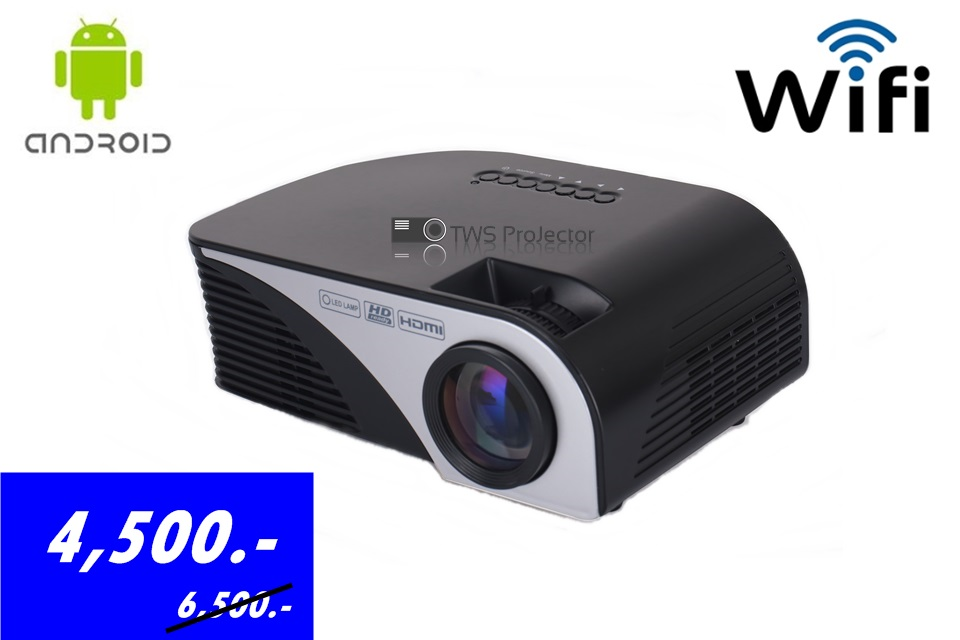 MINI PROJECTOR DS805B ANDROID WIFI 1200 LUMENS (All in One ) 4,500 B