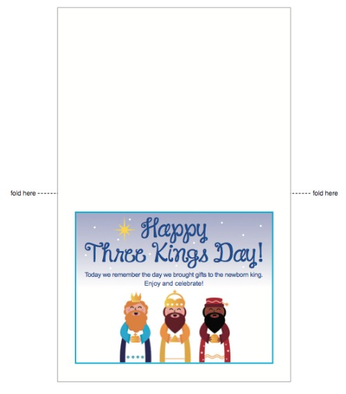 download Three Kings Day printable -- livingmividaloca.com
