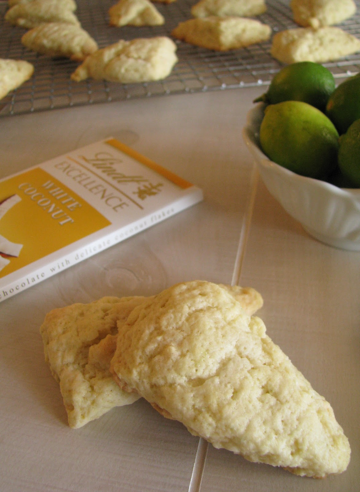 Like My Lemon Raspberry Scones Or Savory Like My Bacon And Chive Scones But These Key Lime And Coconut White Chocolate Are My Favorite