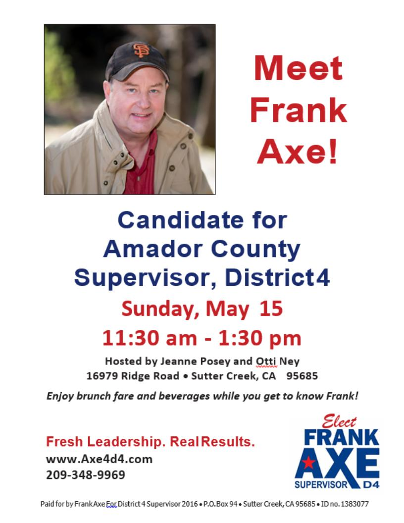 Meet Frank Axe - Sun May 15