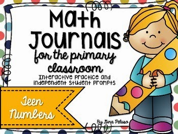 https://www.teacherspayteachers.com/Product/Math-Journals-for-the-Primary-Classroom-Teen-Numbers-1682230