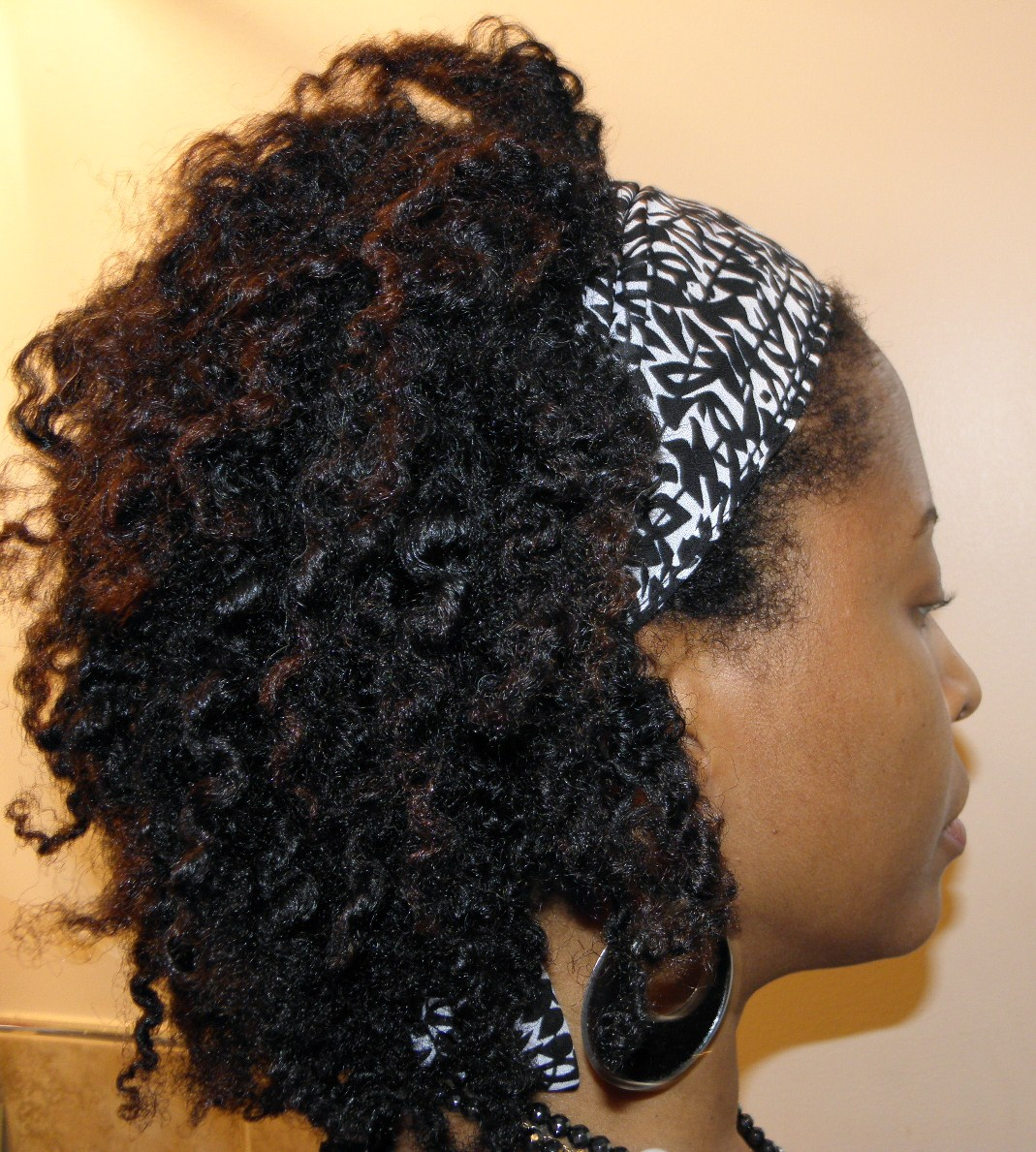 All Natural Hair Kinky Curly Custard Twist Out