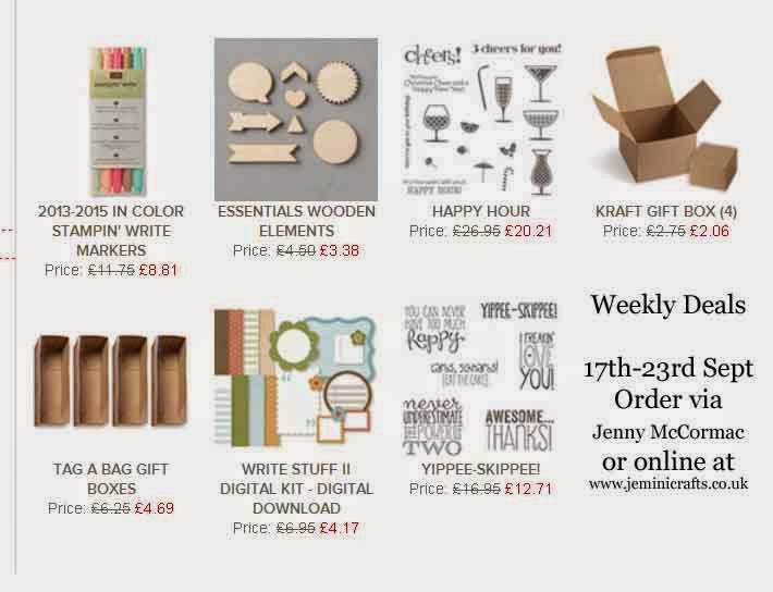 Weekly Deals September 16th www.jeminicrafts.co.uk