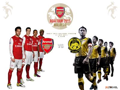 Keputusan Perlawanan Malaysia vs Arsenal 24 Julai 2012