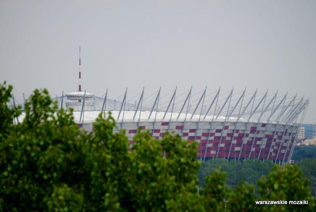 widok panorama Warszawa Stadion Narodowy
