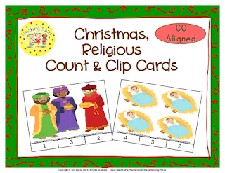 https://www.teacherspayteachers.com/Product/Christmas-Religious-Count-Clip-Cards-Common-Core-Aligned-902799