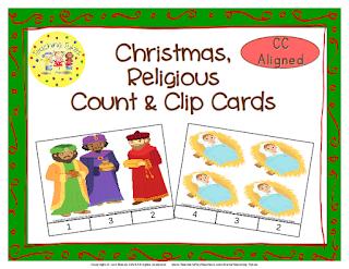 https://www.teacherspayteachers.com/Product/Christmas-Religious-Count-Clip-Cards-Common-Core-Aligned-902799