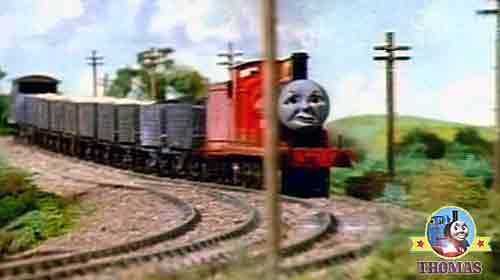 The Troublesome Truck Freight Cars Behaved Thomas And Friends James Red Train Engine Bumped Them