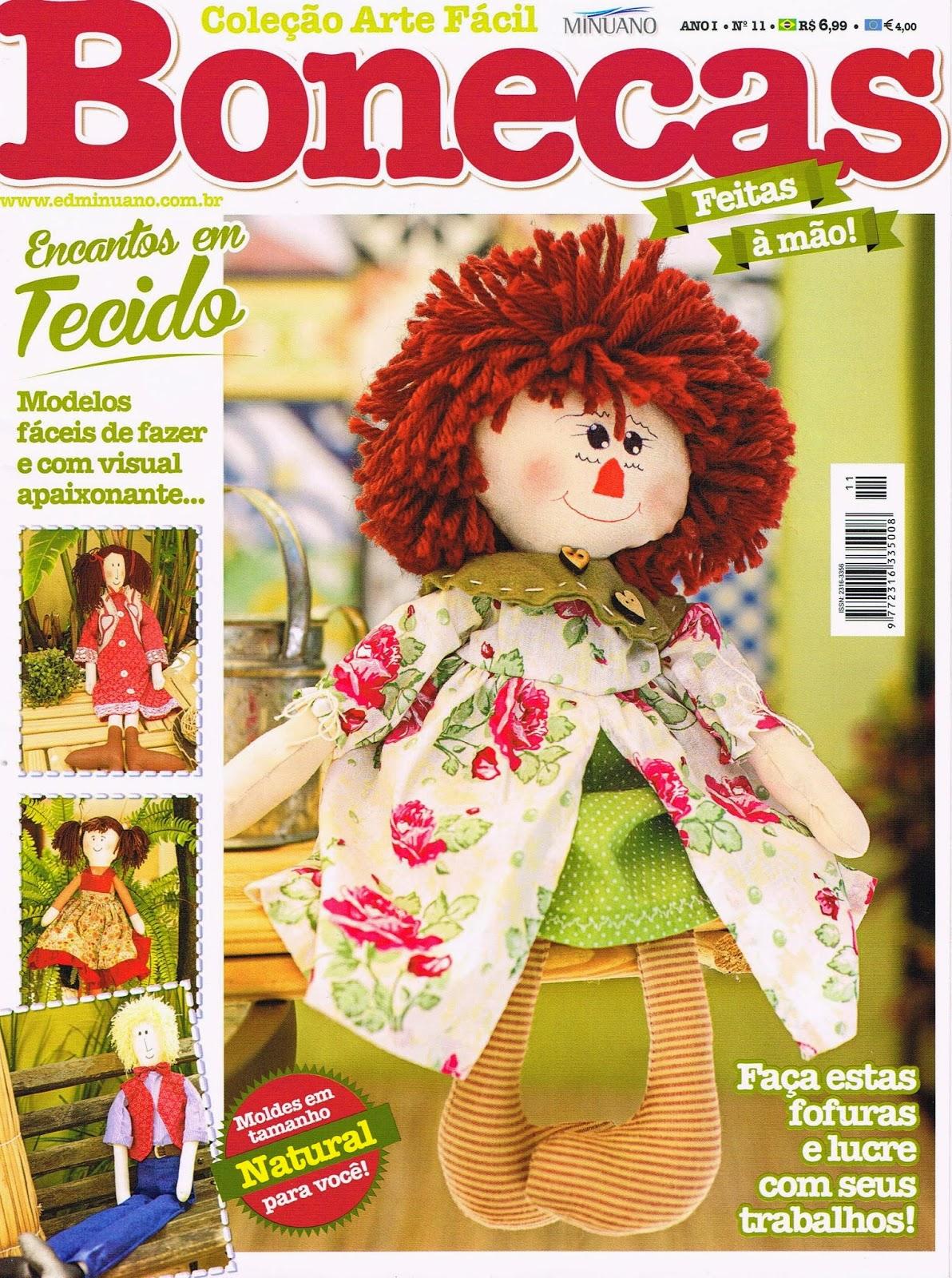 Revista Bonecas número 11 - Maria Adna publicou três bonecas nesta revista