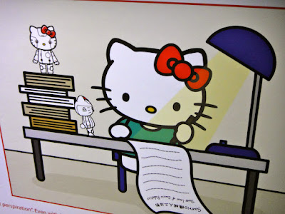 A diligent Hello Kitty