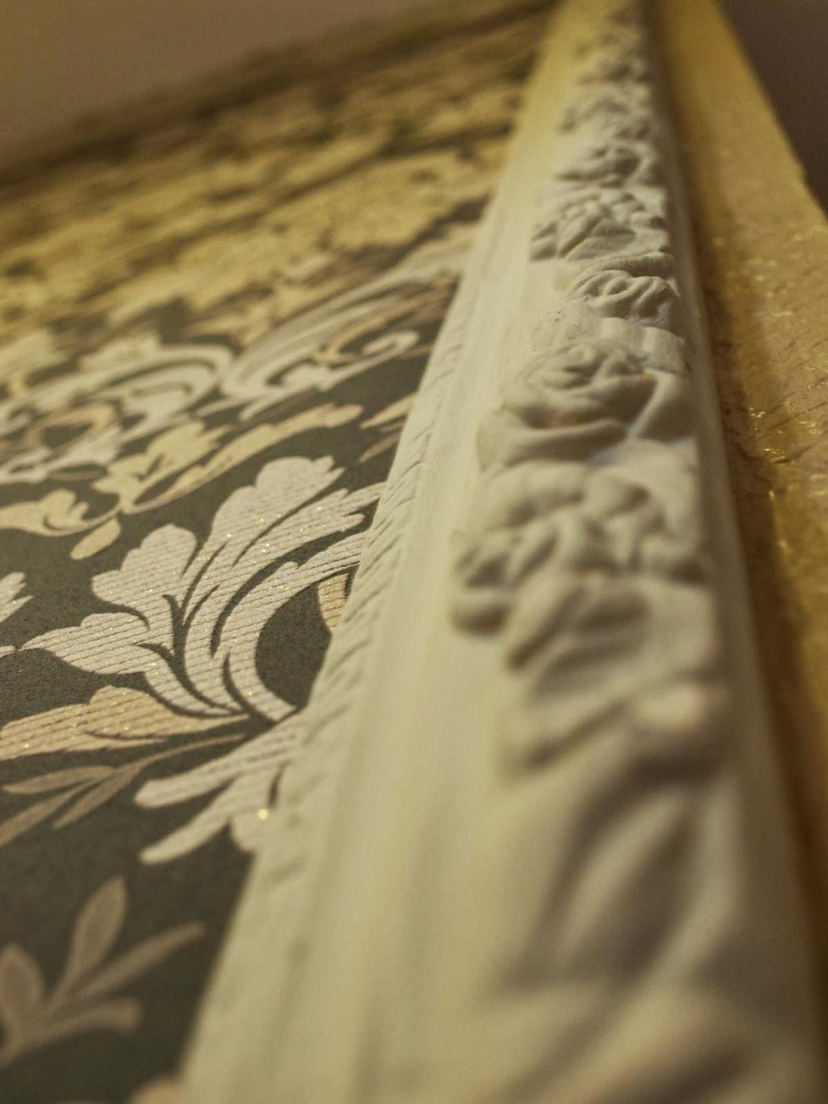 mój dom moja pasja tapeta retro sztukateria