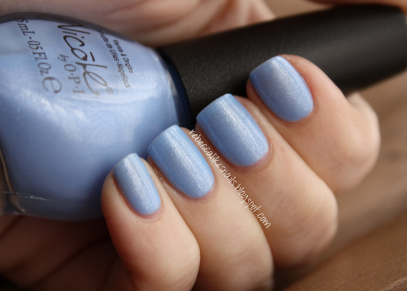 rebecca likes nails: Nicole by OPI - Nothing Kim-Pares To Blue