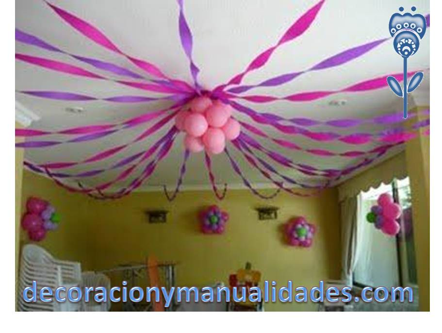 La fiesta ideal para los consentidos de la casa for Decoracion de papel crepe
